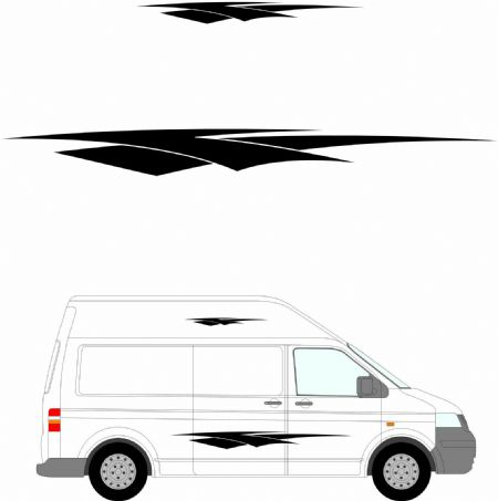 (No.241) MOTORHOME GRAPHICS STICKERS DECALS CAMPER VAN CARAVAN UNIVERSAL FITTING